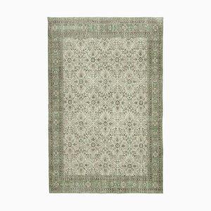 Anatolischer Handgeknüpfter Beiger Handgeknüpfter Großer Vintage Teppich, 1950er