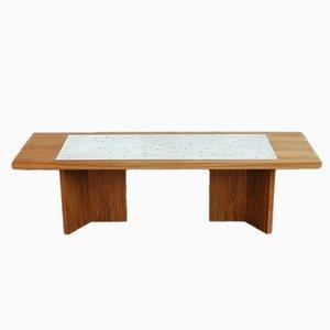 Table Basse Vintage avec Mosaïque Incrustée