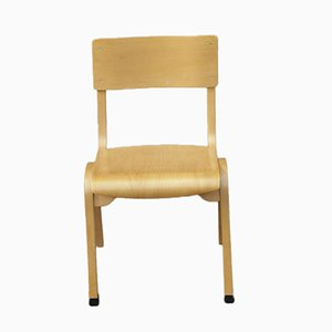 Vintage Curved Leg Plywood Side Chair