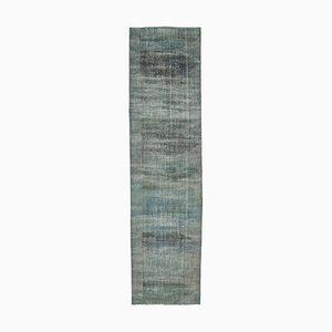 Handgemachter Türkischer Handgeknüpfter Teppich in Blau