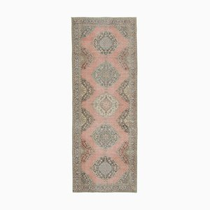 Beige Anatolian Contemporary Hand Knotted Vintage Runner Carpet