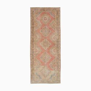 Beige Turkish Decorative Handmade Vintage Runner Carpet