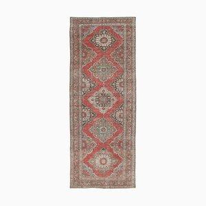 Anatolischer Handgeknüpfter Beiger Vintage Teppich in Beige