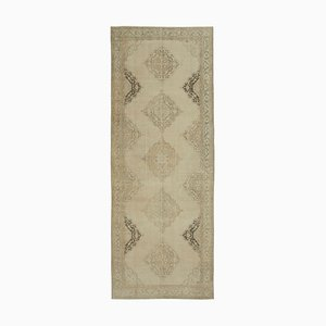 Niedriger anatolischer niedriger Floraler Handgeknüpfter Vintage Teppich