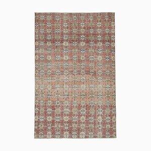 Turkish Red Handmade Wool Vintage Carpet