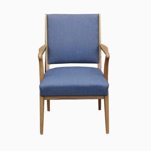 Skandinavischer Blauer Vintage Armlehnstuhl