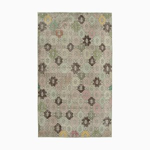 Oriental Multicolor Hand Knotted Wool Vintage Carpet