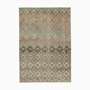 Turkish Multicolor Handmade Wool Vintage Carpet