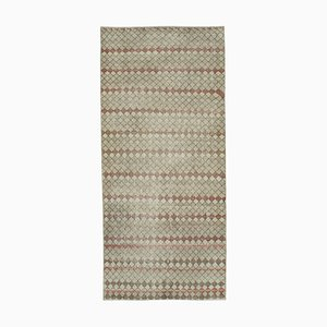 Anatolian Beige Hand Knotted Wool Vintage Carpet