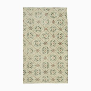 Handgeknüpfter orientalischer Beigefarbener Vintage Teppich aus Wolle