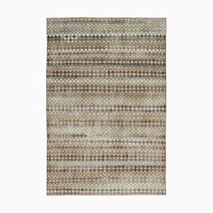 Anatolian Multicolor Handmade Wool Vintage Carpet