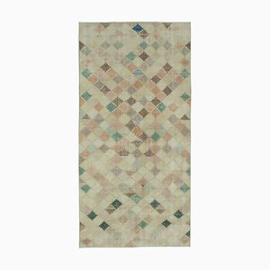 Oriental Yellow Hand Knotted Wool Vintage Carpet