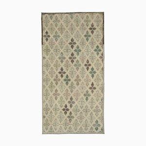 Oriental Beige Handmade Wool Vintage Carpet