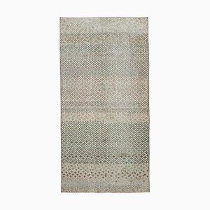 Turkish Multicolor Hand Knotted Wool Vintage Carpet