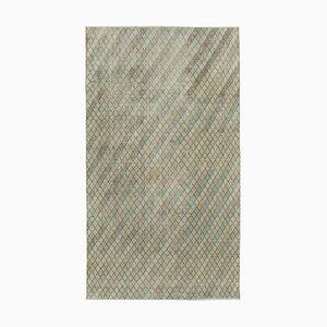 Oriental Beige Hand Knotted Wool Vintage Carpet