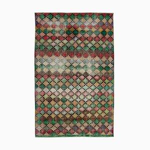 Handgeknüpfter orientalischer Vintage Teppich aus handgewebter Wolle