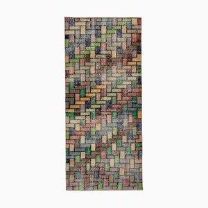 Anatolischer Bunter Teppich aus Handgeknüpfter Wolle