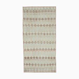 Anatolian Beige Hand Knotted Wool Runner Carpet