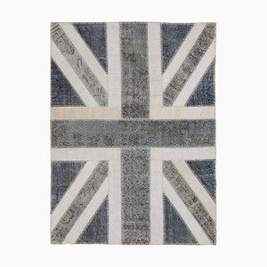 Oriental Handmade Wool Vintage Flag Carpet