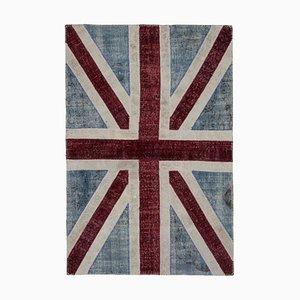 Handmade Wool Vintage Flag Carpet