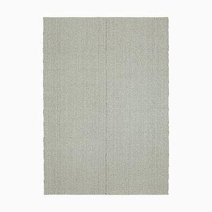 Grey Handmade Wool Flatwave Kilim Carpet