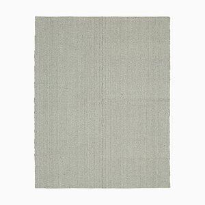 Grey Hand Knotted Wool Flatwave Kilim Carpet