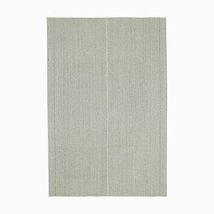 Beige Handmade Wool Flatwave Kilim Carpet