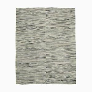 Grey Oriental Handmade Wool Flatwave Kilim Carpet
