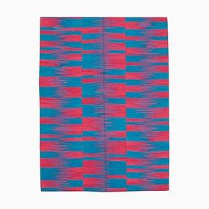 Multicolor Anatolian Handmade Wool Flatwave Kilim Carpet