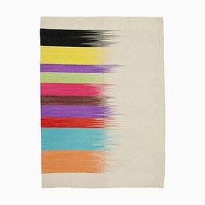 Multicolor Turkish Hand Knotted Wool Flatwave Kilim Carpet