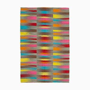 Multicolor Oriental Handmade Wool Flatwave Kilim Carpet
