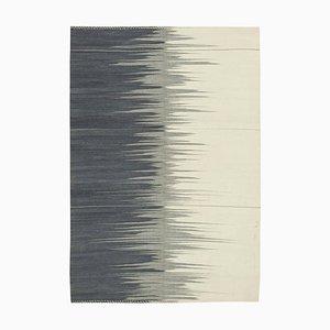 Grey Oriental Hand Knotted Wool Flatwave Kilim Carpet
