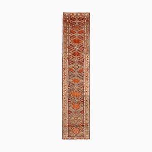 Handmade Wool Turkish Multicolor Vintage Runner Carpet