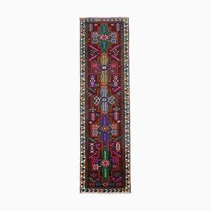 Handgeknüpfter orientalischer Vintage Teppich aus Wolle in Bunt-Optik