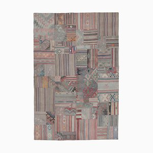Oriental Multicolor Hand Knotted Wool Antique Patchwork Carpet
