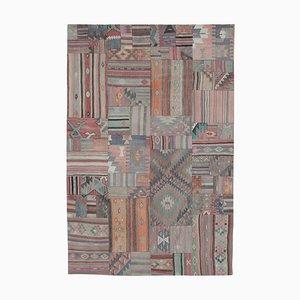 Anatolian Brown Handmade Wool Antique Patchwork Carpet