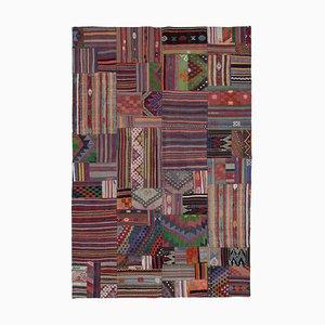 Anatolian Multicolor Handmade Wool Antique Patchwork Carpet