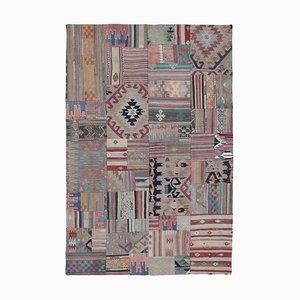 Turkish Multicolor Handmade Wool Antique Patchwork Carpet