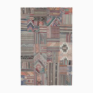 Anatolian Beige Handmade Wool Antique Patchwork Carpet