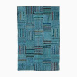 Handgefertigter Anatolischer Kelim Patchwork Teppich aus Wolle