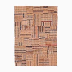 Orientalischer Handgeknüpfter Kelim Patchwork Teppich aus Wolle