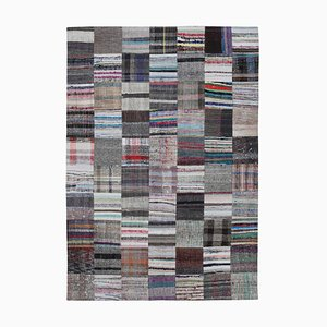 Oriental Multicolor Hand Knotted Wool Kilim Patchwork Carpet