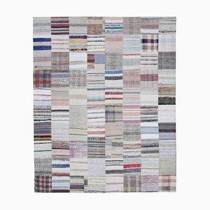 Anatolian Multicolor Handmade Wool Kilim Patchwork Carpet