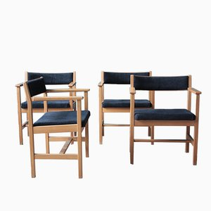 Model 3242 Dining Chairs by Borge Mogensen for Fredericia, Set of 4