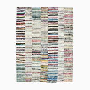 Handgewebter Anatolischer Kelim Patchwork Teppich aus Wolle