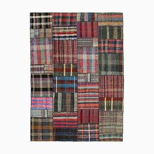 Turkish Multicolor Handmade Wool Kilim Patchwork Carpet