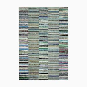 Handgefertigter türkischer Handgeknüpfter Kelim Patchwork Teppich aus Wolle