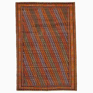 Türkischer Handgeknüpfter Vintage Kilim Teppich aus Wolle