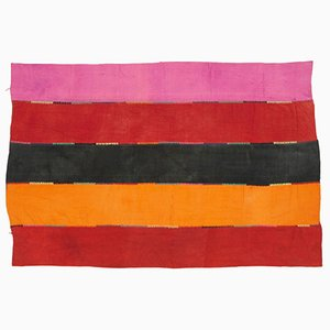 Turkish Handmade Wool Vintage Kilim Carpet