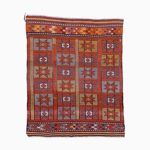 Anatolian Handmade Wool Vintage Kilim Carpet